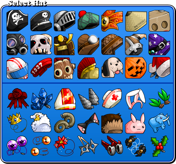 hat icons